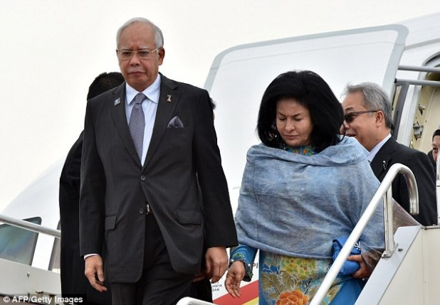 Rosmah Mansor is the wife of Malaysian Prime Minister Najib Razak (both pictured in 2015)