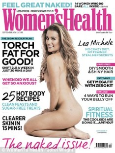 woman's health cover lea michele