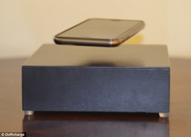 Wireless Phone Charger Ovrcharge Makes Your Device Levitate As It Powers Up