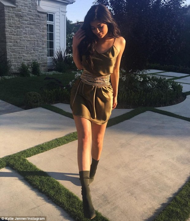 She's celebrating her birthday month. And it appears Kylie Jenner's on-again beau Tyga is spoiling her with another romantic evening out. The soon-to-be 19-year-old shared snaps of a racy new outfit as she notified her fans on Monday that she was preparing to for a date.