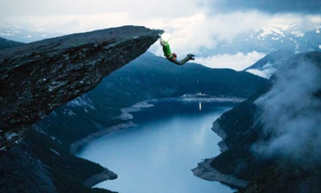 Climber slammed for swinging from Trolls Tongue  Daily