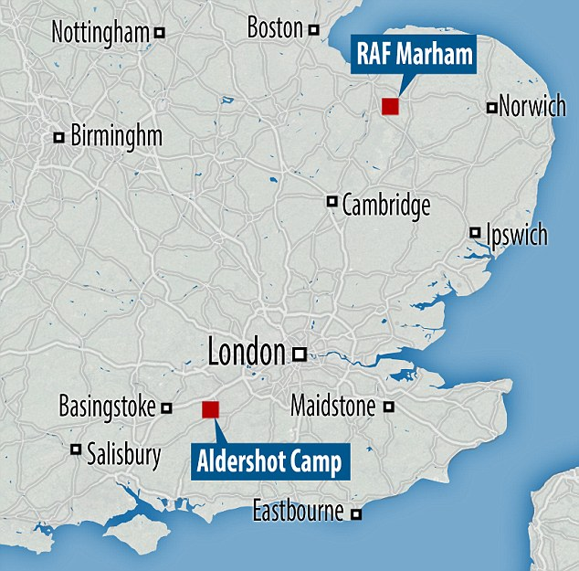 Servicemen have been on high alert following an attempted abduction of a servicemen at RAF Marham, Norfolk, on July 20