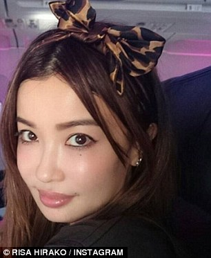 One user wrote on Twitter: 'Risa Hirako is 45 years old. Let that blow your mind this morning'