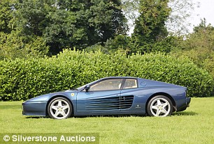 Another Ferrari from before the millennium, the 512 TR replaced the Testarossa. This 1994 version in Chiaro Blue has less than 17,000 miles on the clock, hence the high estimation of £155,000 to £175,000. It sold for £162k