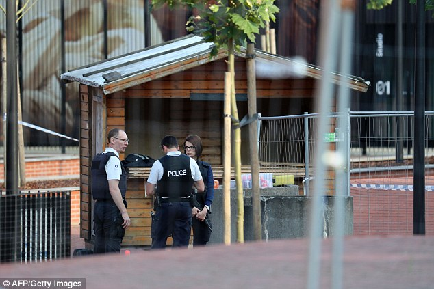The machete attack took place at a wooden hut that had been erected outside the Charleroi police station to provide an additional layer of security