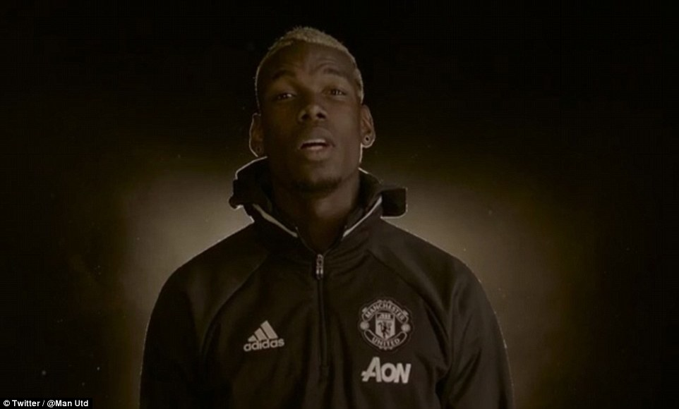 Pogba spoke directly to the camera after revealing himself in a second video and revealed 'I'm back'
