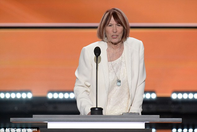 Sean Smith's mother Patricia addresses the Republican National Convention on July 18