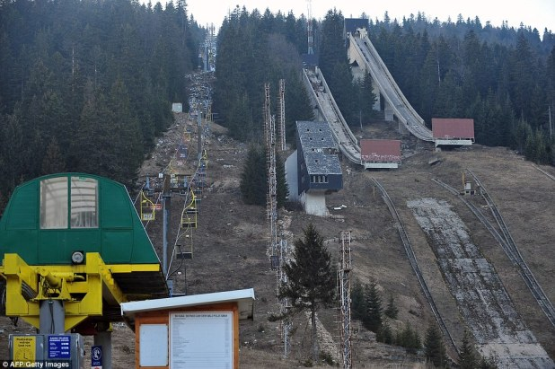 The ski lift in Sarajevo that took spectators to the top of the mountain at the 1984 Olympic Games is now abandoned