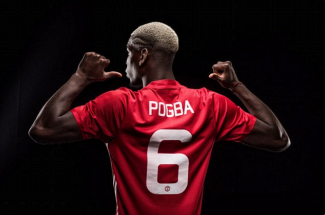 Paul Pogba will earn wages of £290,000 per week after taking Manchester United's No 6 shirt