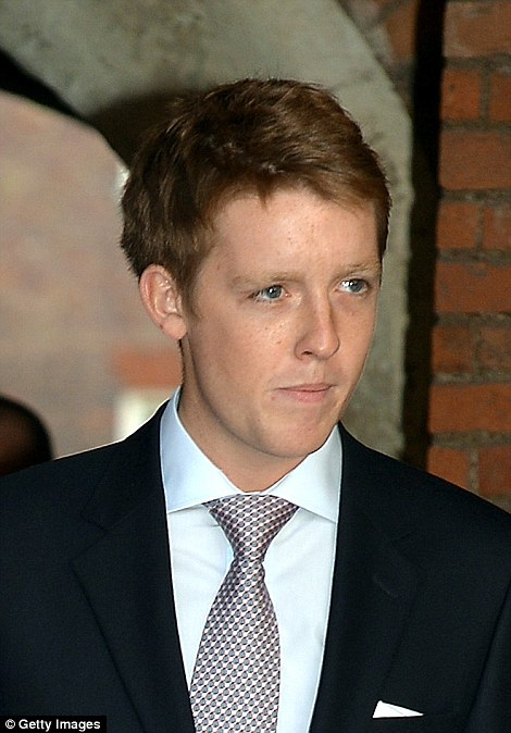 Lord Hugh, 25, pictured at Prince George's christening in 2013