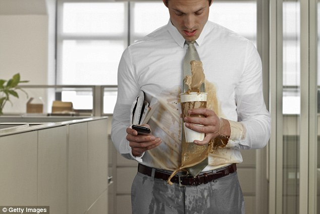 Image result for spilling coffee while driving picture