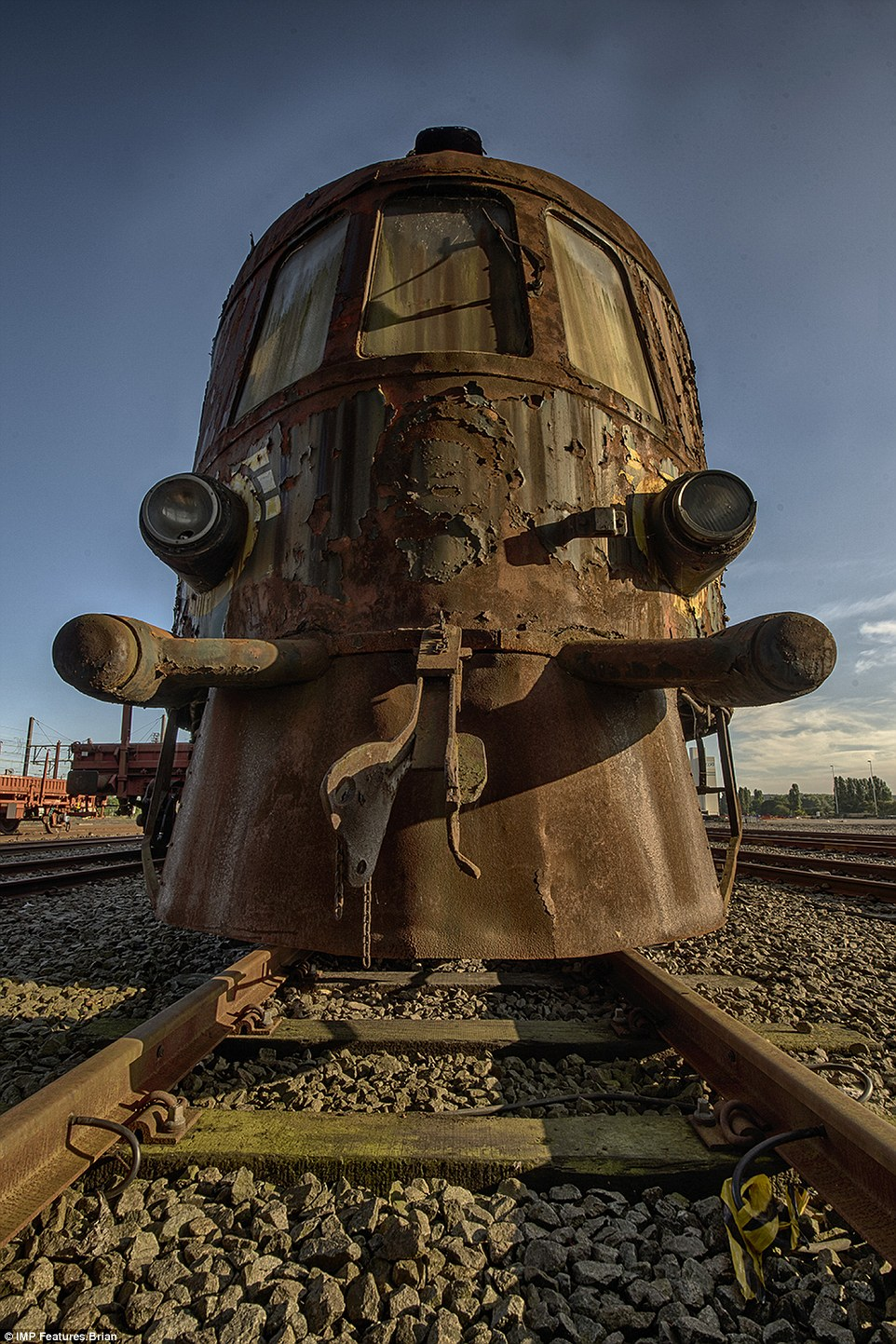 The abandoned locomotive and carriage have become a popular attraction for photographers and adventurers