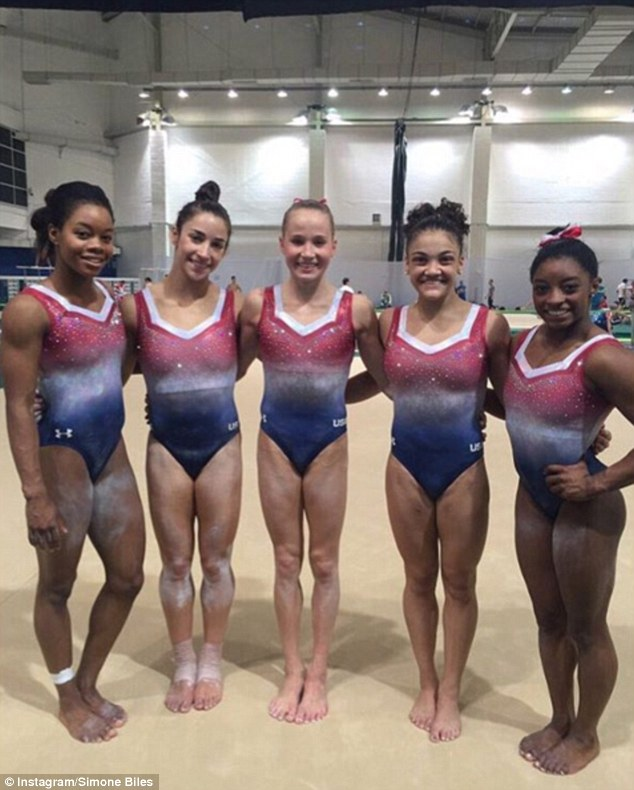 The gymnasts each have 12 practice leotards priced at around $60 to $200 each, as well as eight competition leotards that vary from $700 to $1,200 each