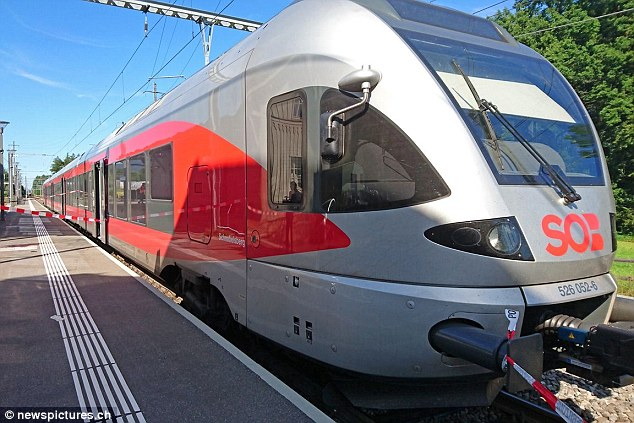The offender has been confirmed as being a Swiss national and is said to have used a 'flammable liquid' to set the carriage on fire