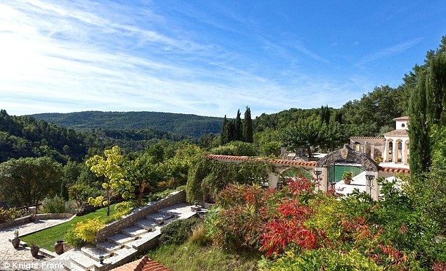 The property, in the village of Bargemon, near the Cote d'Azur, has a price tag of £2.4million