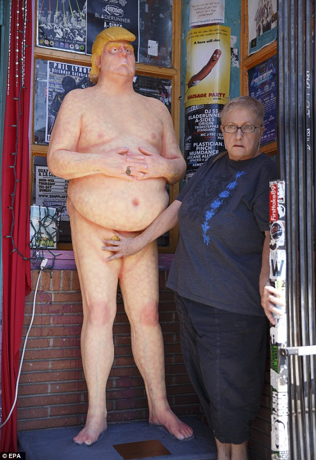 The statues were made by a Las Vegas-based artist named Joshua 'Ginger' Monroe, who specializes in making monsters for horror films and haunted houses