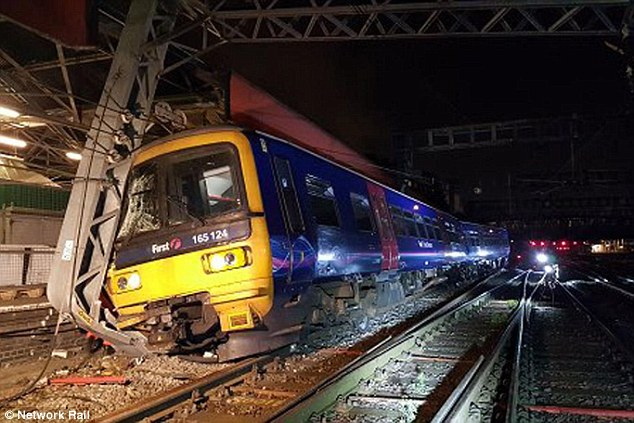 The driver of the train (pictured) had not eaten anything for 15 hours before he made an emergency stop