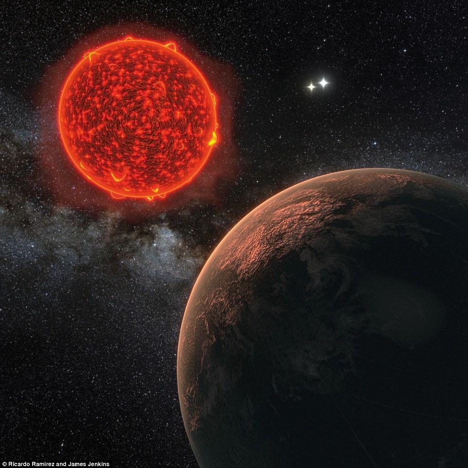 A impressão deste artista mostra o planeta recém-descoberto orbitando Proxima Centauri, a estrela que está mais próximo da Terra é retratado. A maneira Proxima b gira, forte radiação de sua estrela e a história da formação do planeta faz o seu clima muito diferente daquela da Terra