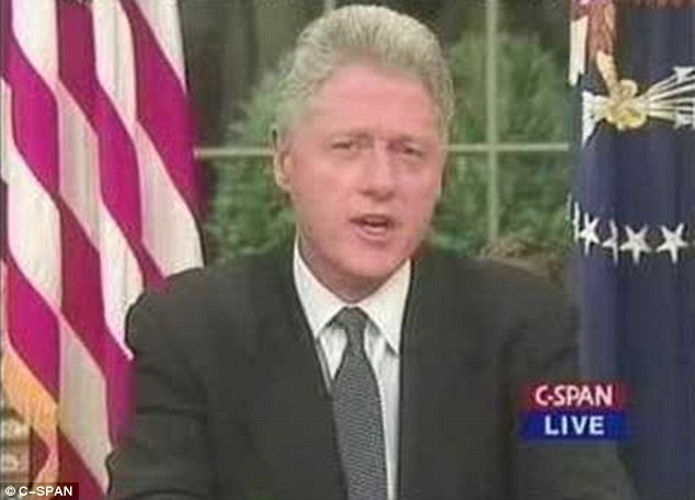 Address: Bill Clinton used an Oval Office address to tell the nation of the airstrikes on the Saddam regime, to degrade his alleged ability to produce weapons of mass destruction