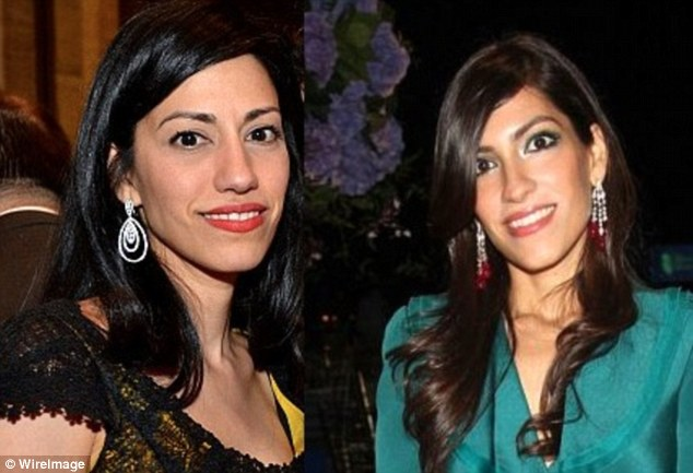 Same roles: Both Huma and her sister Heba Abedin were assistant editors at the journal, while their brother Hassan was associate editor.