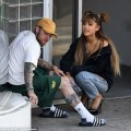 Ariana grande leaves tattoo parlor with rumored boyfriend mac miller
