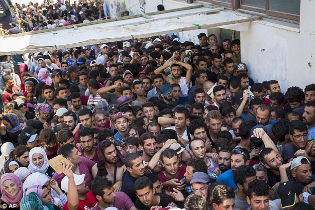 ISIS is accused of distributing fake passports in Greek refugee camps to terrorists, file photo