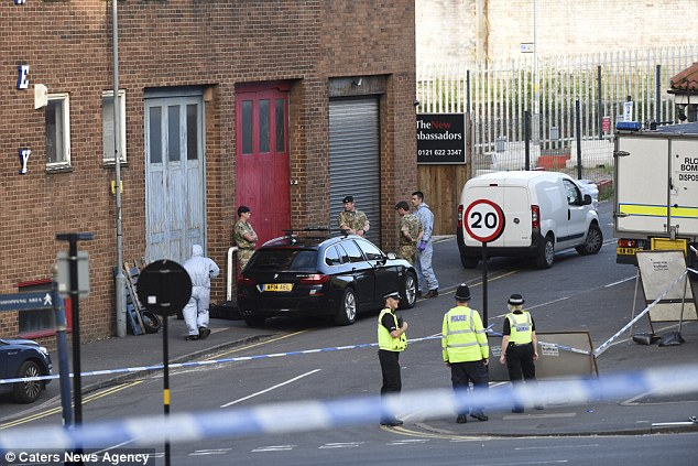 The bomb disposal team was called to a property in Birmingham as five men were arrested by counter terrorism police
