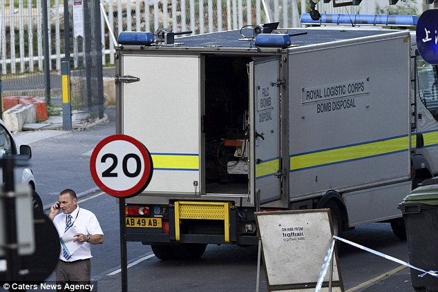 A bomb disposal squad (pictured) arrived at an address in the Lee Bank area of Birmingham