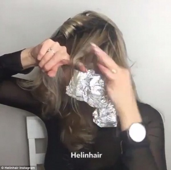 Image result for use aluminium foil while curling