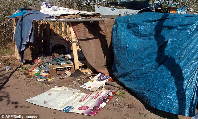 The migrant camp, known as 'The Jungle', was set up by those wanting to get to Britain