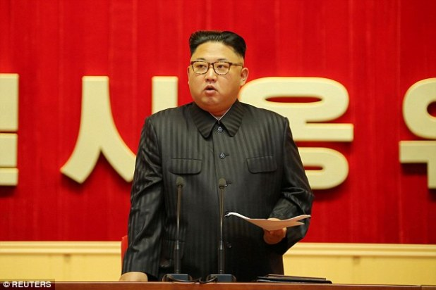 Kidnapper: A report published Wednesday said Sneddon was in fact kidnapped to teach Kim Jong Un (pictured) English, and that he is still alive and living in the North Korean capital