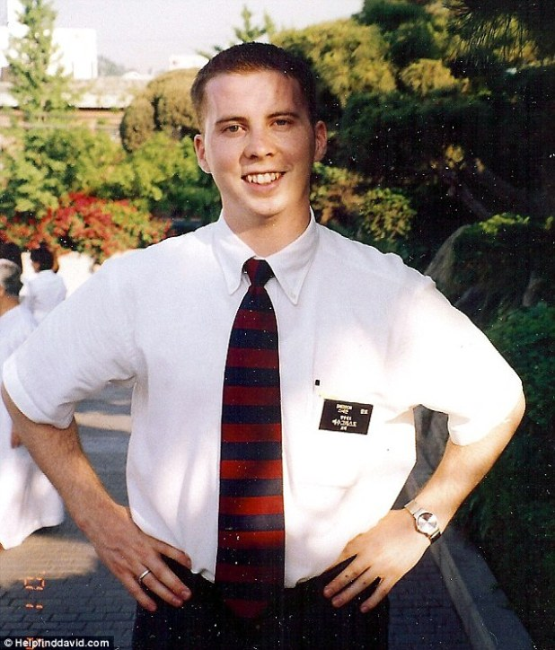 Vanished: David Sneddon (pictured) disappeared in 2004 while in Yunnan Province, China. Chinese police said he likely died by accident while hiking, but his body was never found