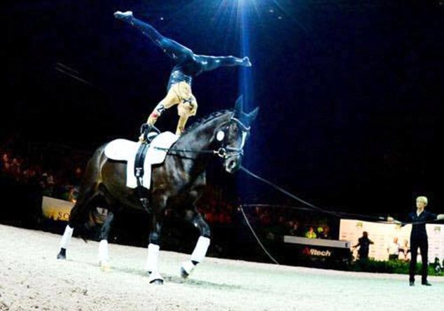 Phillips, 26, represents Britain in the event of equestrian vaulting with her horse
