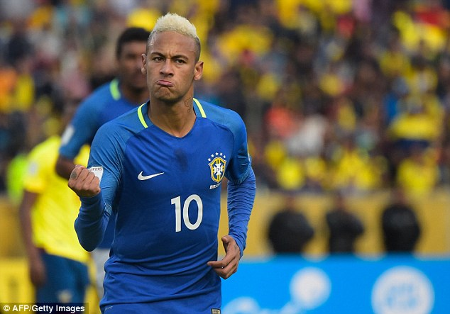 Neymar gave Brazil the lead in Quito as they went on to secure a 3-0 win against Ecuador