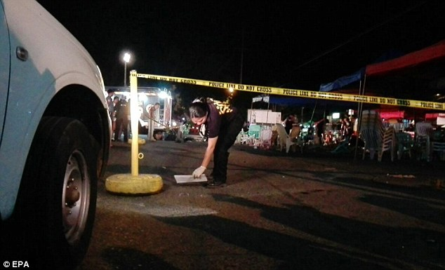 The blast happened in the massage area of a popular night market in  Davao City