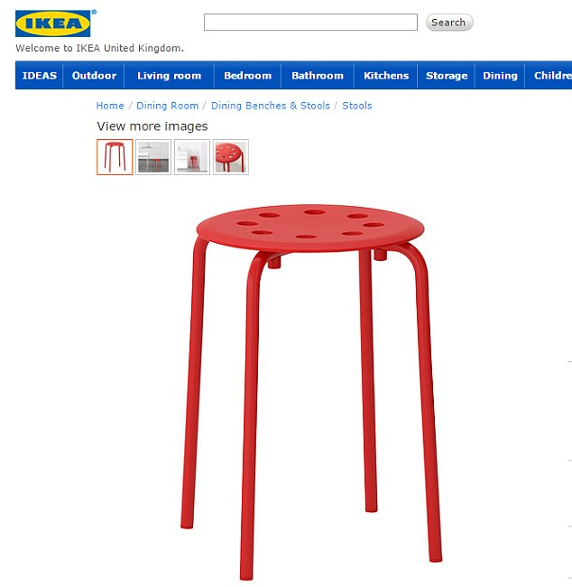 sex chair ikea family dollar tables and chairs norwegian man s hilarious complaint to after getting a testicle claus bought the marius stool from help him shower as he suffers