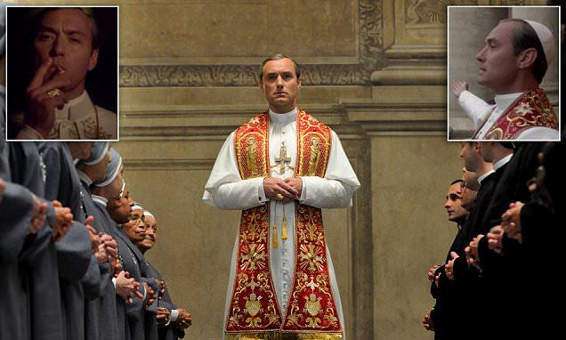 É este a representação mais sacrílega do Papa sempre?  Jude Law é lançado como um