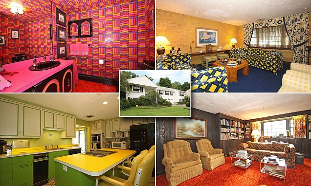 kitschy living room how to place furniture in a kitsch house hasn t changed 47 years up for sale with all original daily mail online