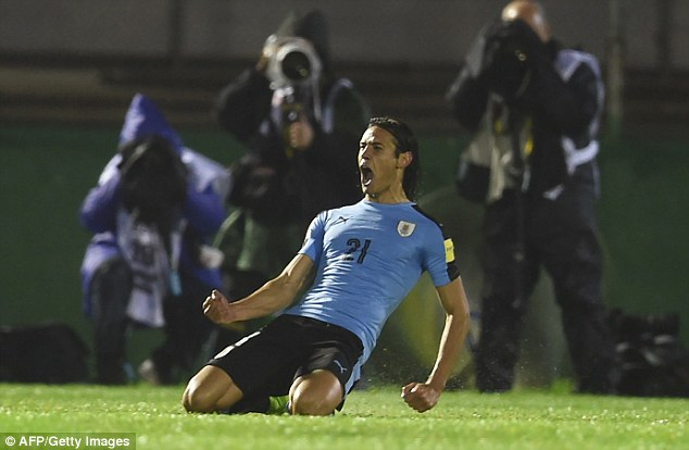 Edinson Cavani was thrilled with Uruguay's conclusive response to their defeat by Argentina