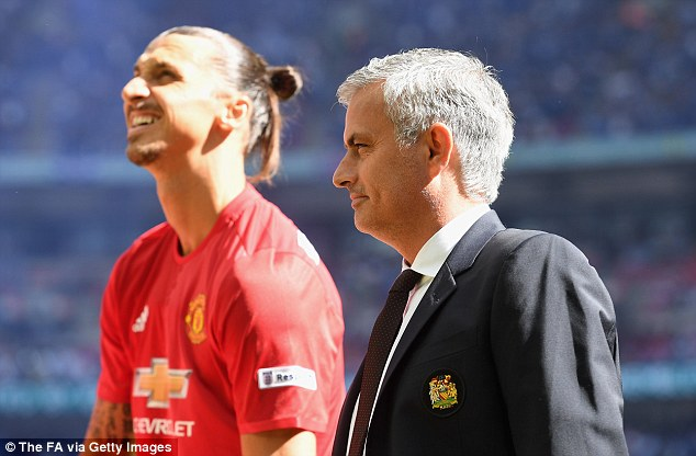Image result for Mourinho Ibrahimovic Man United's