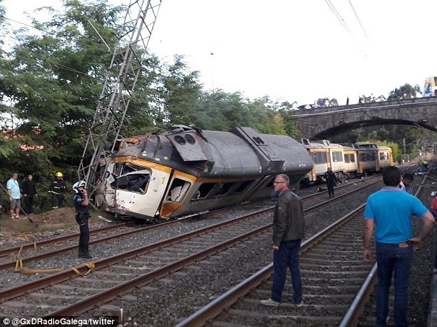 It is understood the accident took place near a station. In 2013, 79 people were killed in Spain's worst rail disaster in decades when a high-speed train went off the tracks and slammed into a wall near Santiago de Compostela, in Galicia