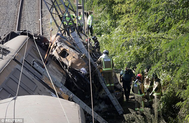 The regional government's president, Alberto Nunez Feijoo, told reporters at the scene that the train's Portuguese engineer and Spanish ticket collector were among the dead, as well as two passengers, one of whom died in hospital