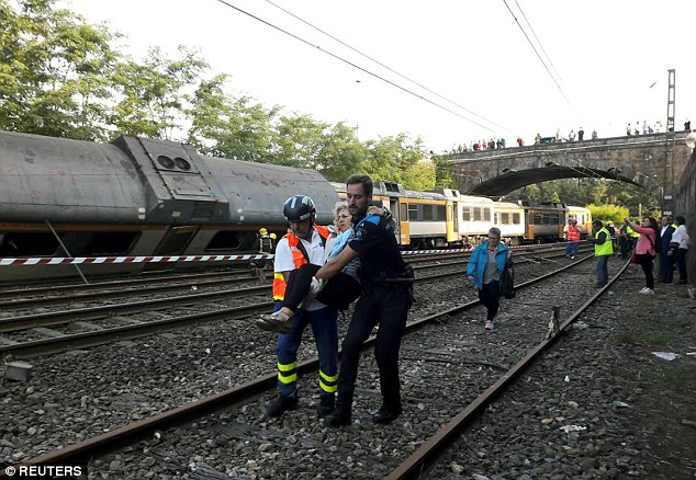 Adif, the company that manages railways in Spain and is in charge of the tracks, said the accident happened around 9.30am local time just before arriving into the station of O Porrino