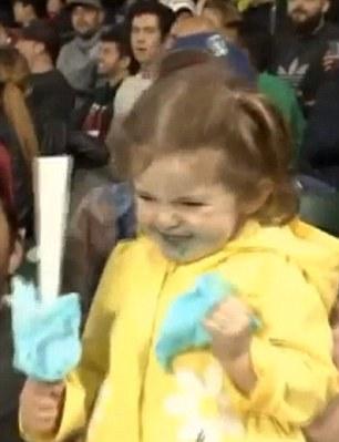 little girl steals show