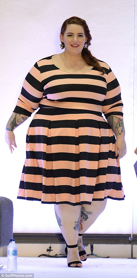 Curvy catwalk queen: Tess Holliday was leading the parade of plus-sized models at the groundbreaking Curve Fashion Festival, held at The Exhibition Centre Liverpool on Saturday