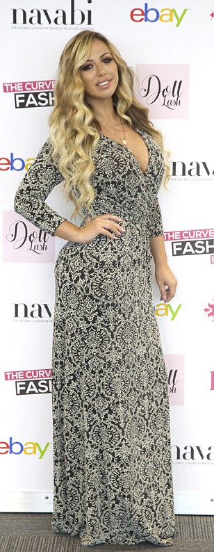Celebrities attendees: Geordie Shore's Holly Hagan was putting in an appearance, rocking a rather demure paisley dress