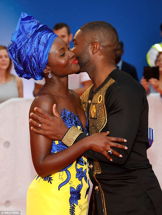 Co-stars: Lupita joined fellow co-star David Oyelowo at the premiere as the two celebrated the arrival of their film