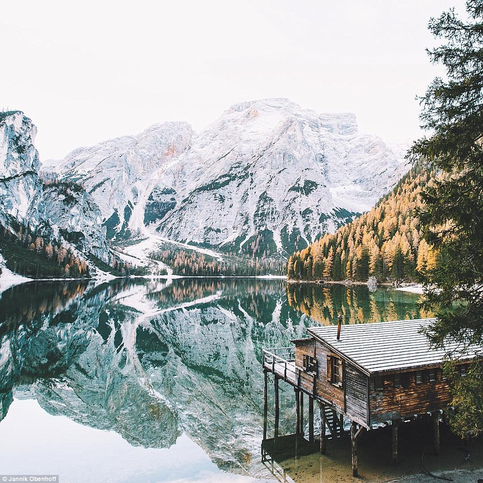 Obenhoff told MailOnline Travel: 'I picked nature photography as my main theme because I really like the German landscape and the Alps, which are near where I live'