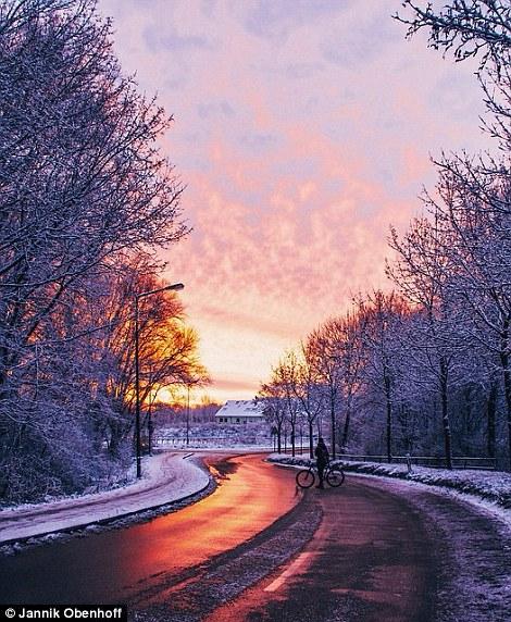 A rural sunrise in winter in an unknown spot