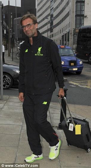 Jurgen Klopp accompanied his players to the capital